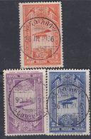 Ethiopie PA N° 11 / 13 O Partie De Série Arrivée Du 1er Avion Postal à Addis-Abeba, Les 3 Val Oblitérées Sinon TB - Ethiopie