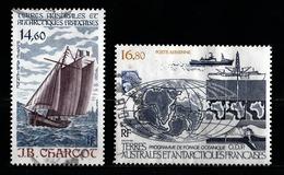 T.A.A.F 1987 : Timbres Yvert & Tellier N° 97 Et 98 Avec Oblitérations Rondes. - Poste Aérienne