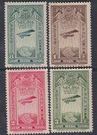 Ethiopie PA N° 14 / 17 X Partie De Série 1er Avion Postal à Addis-Abeba, Les 4 Vals Trace De Charnière Sinon TB - Ethiopie
