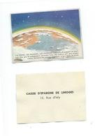 LaTerre, Les Nuages Et Les Océans Chromo De La Caisse D'Épargne De Limoges 1960s TB 80 X 55 Mm - Autres