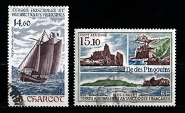 T.A.A.F 1987 : Timbres Yvert & Tellier N° 97 Et 101 Avec Oblitérations Rondes. - Poste Aérienne