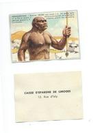 NÉANDERTHAL Chromo De La Caisse D'Épargne De Limoges 1960s TB 80 X 55 Mm - Cromo