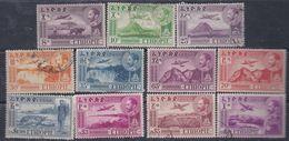 Ethiopie PA N° 23 / 30  X, O Série Courante,  Les 11  Valeurs Trace De Charnière Ou Oblitérées Sinon TB - Ethiopie