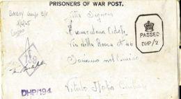 BIGLIETTO CAMPO PRIGIONIERI INDIA POW CAMP 9 BHOPAL 1945 SORIANO NEL CIMINO - 1900-44 Vittorio Emanuele III
