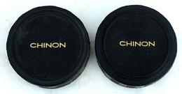 OPTIQUE 2 Protections Souples D'objectif De Jumelles Diamètre 62-63mm D'origine CHINON - Photographie