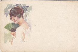 Cpa 2 Scans Illustrateur A Terzi Femme Art Nouveau - Illustrateurs & Photographes