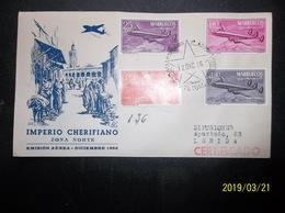 Marruecos: 1956 Rgt. Air Ca-FDC To Lerida (#GP7) - Morocco (1956-...)