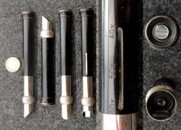 OPTIQUE VINTAGE Microscope De Photographe à Main, Grossissement Ajustable De 40X à 60X En Bronze - Supplies And Equipment