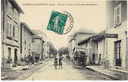 38 SAINT SIMEON  De BRESSIEUX  Rue De La Gare - Otros Municipios