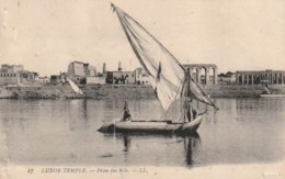*** EGYPTE LUXOR   LE TEMPLE ET FELOUQUE - --- TTB écrite - Egypte