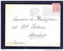 Am5137 Gironde 33 Bordeaux FLIER BOR204 7 L.O. /lettre De Deuil 28/12/27 - Marcophilie (Lettres)
