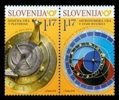 Slovenia 2019 Mih. 1355/56 Astronomical Clock (joint Issue Slovenia-Slovakia) MNH ** - Slovénie