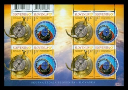 Slovenia 2019 Mih. 1355/56 Astronomical Clock (M/S) (joint Issue Slovenia-Slovakia) MNH ** - Slovénie