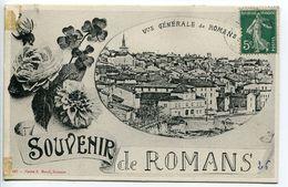 CPA - Souvenir De ROMANS Vue Générale Et Fleurs - Romans Sur Isere