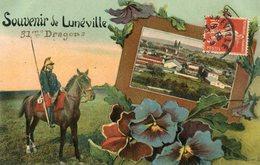Souvenir De LUNEVILLE Soldat Du 31 ème Régiment Dragons écrit à Ornans - Luneville