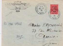 FRANCE - SALON DE L'AERONAUTIQUE PARIS 1936 / SEMEUSE B.I.T N 264 - Poste Aérienne