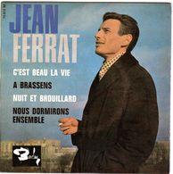 Disque 45 Tours De Jean Ferrat - C'est Beau La Vie - Vinyles