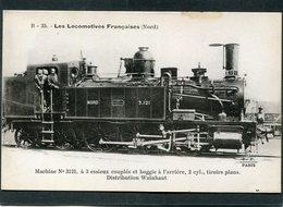 CPA - Les Locomotives Françaises (Nord) - Machine N° 3121 - Matériel