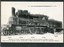 CPA - Les Locomotives Françaises (P.L.M.) - Machine N° B-145 - Matériel