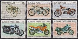 Transports - BURKINA FASO - Centenaire De L'invention De La Motocyclette - N° 653 à 655 + PA 290-292-293 - 1985 - Burkina Faso (1984-...)
