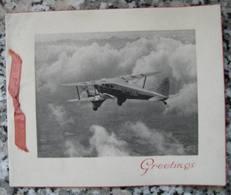 Carte Vœux Aviation Avion - 1919-1938: Between Wars