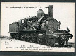 CPA - Les Locomotives Françaises (P.L.M.) - Machine N° B-180 - Matériel