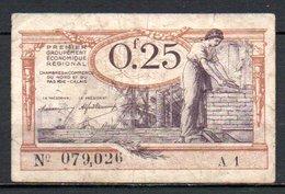 566-Nord Et Pas-de-Calais Billet De 25c 1925 A1 - Chambre De Commerce