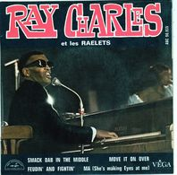 Disque 45 Tours De Ray Charles Et Les Raelets - Smack Dab In The Middle - Soul - R&B