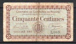 566-Nevers Billet De 50c 1915 AZ150 - Chambre De Commerce