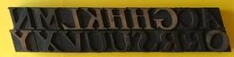 Lettres Typographiques En Bois (18) De 35 Mm De Haut - Sciences & Technique