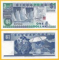 Singapore 1 Dollar P-18a 1987 UNC - Singapore
