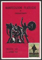 YN383   Trieste 1968 Manifestazione Filatelica Del Cinquantenario - Expositions Philatéliques