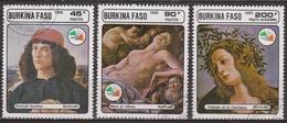 Art, Peinture Italienne - BURKINA FASO - Sandro Botticelli - N° 686-687 + PA 315 - 1985 - Burkina Faso (1984-...)