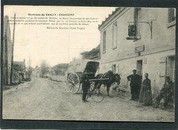 CPA - CHASSEMY - La Rue Principale, Animé - Attelage De Livraison - Altri Comuni