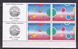 N° 2199 Et 2200  Philexfrance 1982 Expo Philatélique: P2200A Une Paire De 4Timbres Et 2 Vignettes Neuf Impeccable - Frankrijk