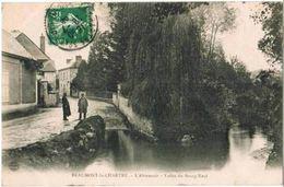 CPA BEAUMONT LA CHARTRE - L'Abreuvoir - Vallée Du Bourg Neuf - Animée - Andere Gemeenten