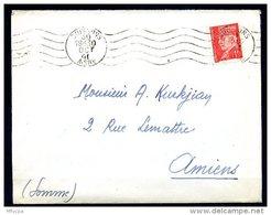 Am5224 Aisne 02 Soisson R.B.V. SOI105 5 L.O. /lettre 30/10/41 - Marcophilie (Lettres)