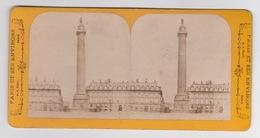 Stereoscopische Kaart.  :PARIS.  Colonne Vendôme - Cartes Stéréoscopiques