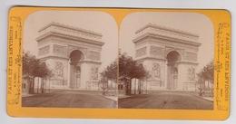 Stereoscopische Kaart.  :PARIS.  Avenue De Triomphe - Cartes Stéréoscopiques