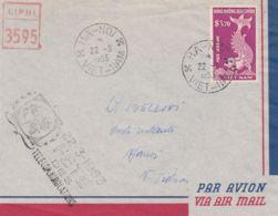 1953 VIET NAM Posta Aerea Pi.3,70 Su Busta Ha-Noi (22.3) E Annullo Speciale Festa Telecomunicazioni - Viêt-Nam
