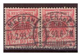 DR: Paar Nr. 47c, Gestempelt - Deutschland
