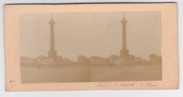 Stereoscopische Kaart.  :PARIS.  Place De La Bastille - Cartes Stéréoscopiques