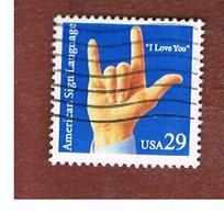 "STATI UNITI (U.S.A.) - SG 2846  - 1993  DEAF COMMUNICATION: "" I LOVE YOU ""  - USED - Used Stamps"