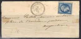 Chasseneuil (Charente) : LSC Càd 22, PC 761 Sur N°14, 1862, Sans Texte. - 1849-1876: Période Classique