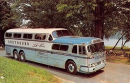 "07790 """" THROUGH VACATION WONDERLAND BY GREYHOUND SCENICRUISER"" AUTOBUS  CART. ORIG. SPED. 1965 - Bus & Autocars"