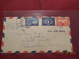 Lettre De 1953 Des Nations Unies - New York -  VN Hauptquartier