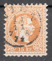 AUSTRIA 1867, KAISER FRANZ JOSEPH, SEPARATE USED STAMP MiNo 39 - 1850-1918 Imperium