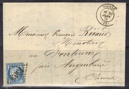 Dignac (Charente) : LAC, Càd Type 17, GC 1303 Sur N°60/III, 1875, Indice 13. - 1849-1876: Période Classique