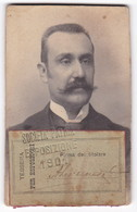 TESSERA ESPOSITORI - SOCIETA' PATRIA - ESPOSIZIONE GENOVA - 1901 - Tickets D'entrée