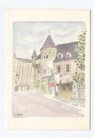 38 GRENOBLE--LE MUSÉE STHENDAL  ILLUSTRATION METGY--- RECTO / VERSO-- B50 - Francia